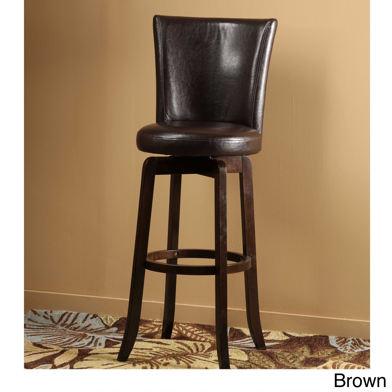 This Stylish Swivel Stool Features Solid Construction And