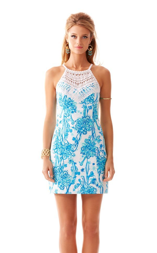 7dba25c170a3 Pearl Lace Neck Shift Dress - Lilly Pulitzer Resort White Back It Up