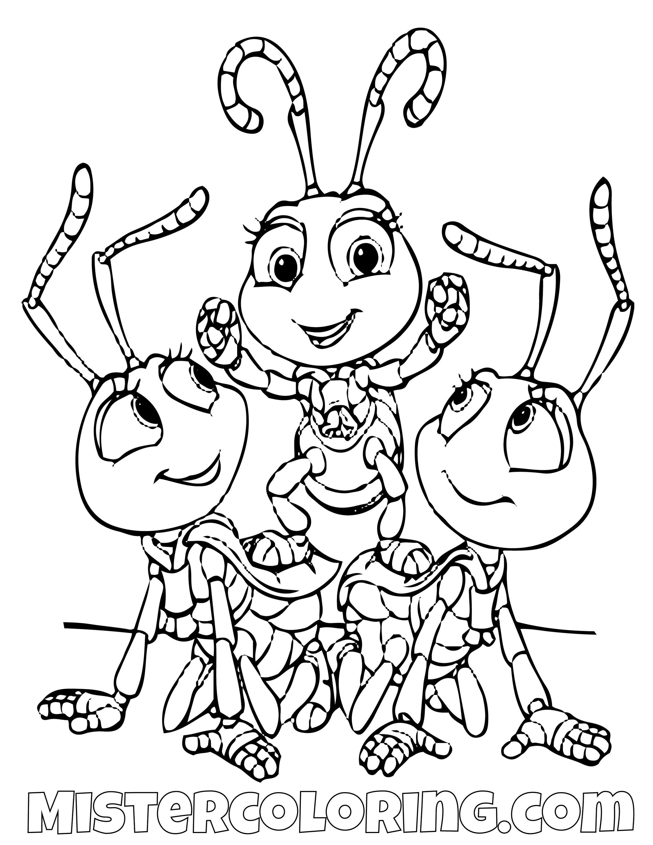 A Bug S Life Coloring Pages For Kids Mister Coloring Unicorn Coloring Pages Monster Coloring Pages Disney Coloring Pages