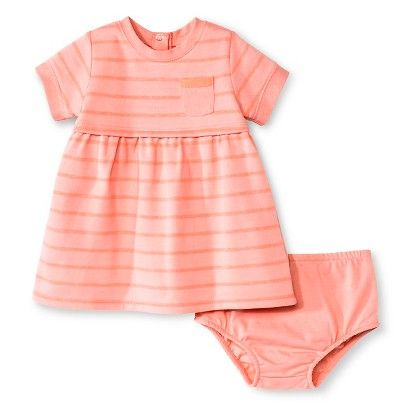 Baby Girls Stripe Dress Pink Cherokee Baby Fash Pt I