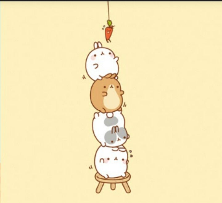 Molang's trying to get carrot!