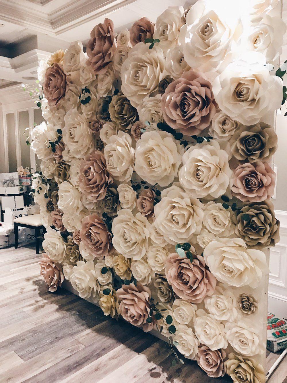 rose wallnew york paper flowers in 2019 | wedding