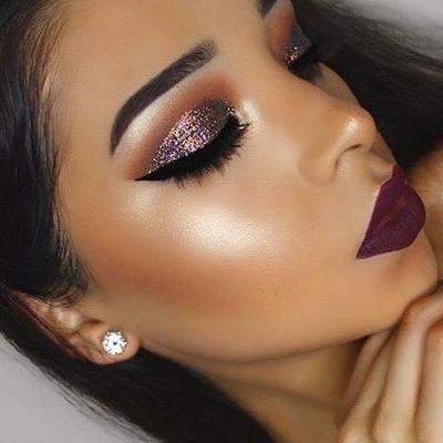 Maquillaje Para Pieles Morenas A Resultados Preciosos Maquillaje De Ojos Con Purpurina Maquillaje Piel Morena Maquillaje Con Glitter