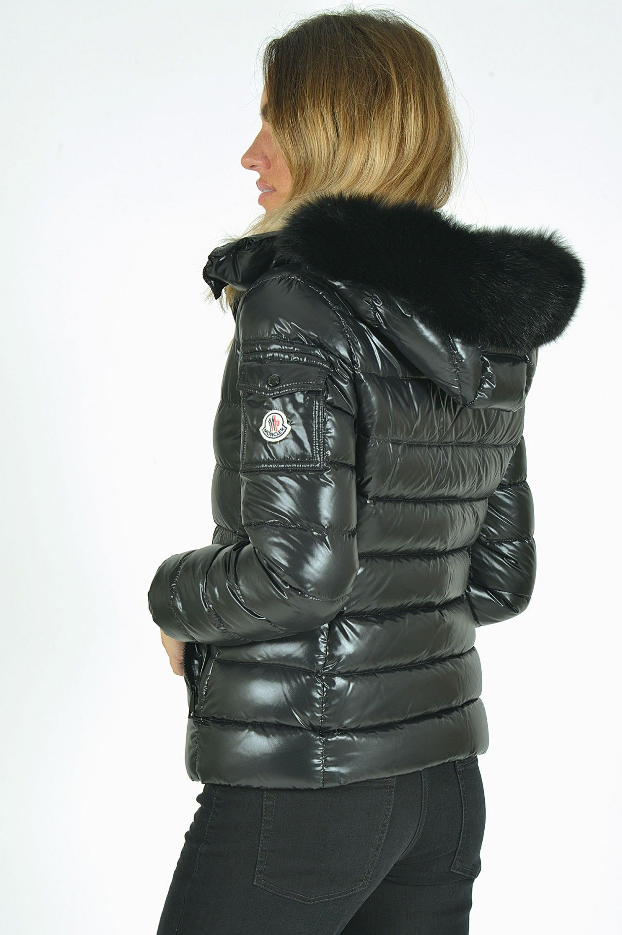 Grüner Online Shop  Moncler Daunenjacke BADYFUR in Schwarz   fur ... c9b559c0fde