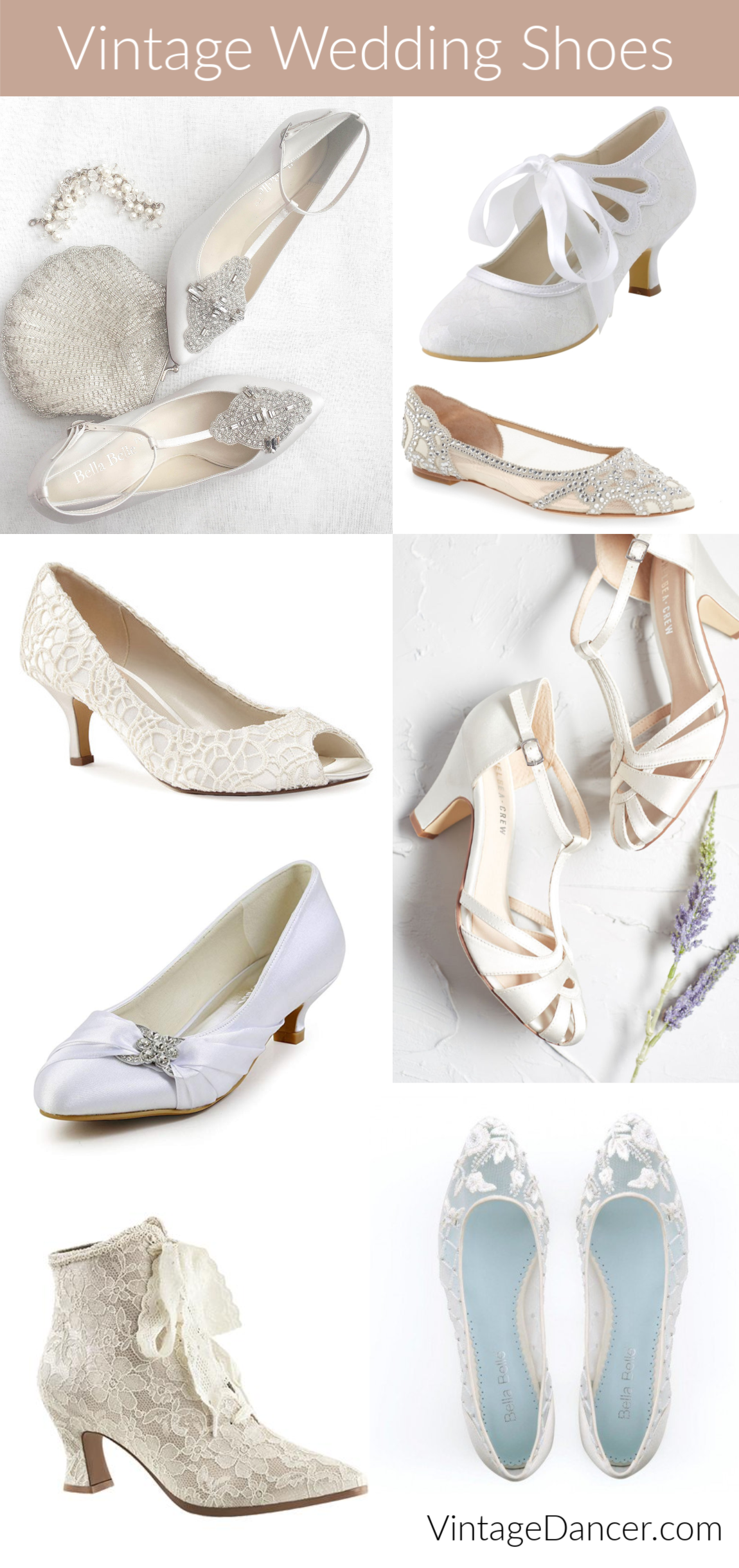 Vintage Style Wedding Shoes Retro Inspired Shoes Wedding Dress