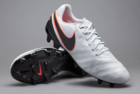 96ef8e05751 Nike Tiempo Genio II Leather FG - Pure Platinum Black Hyper Orange ...