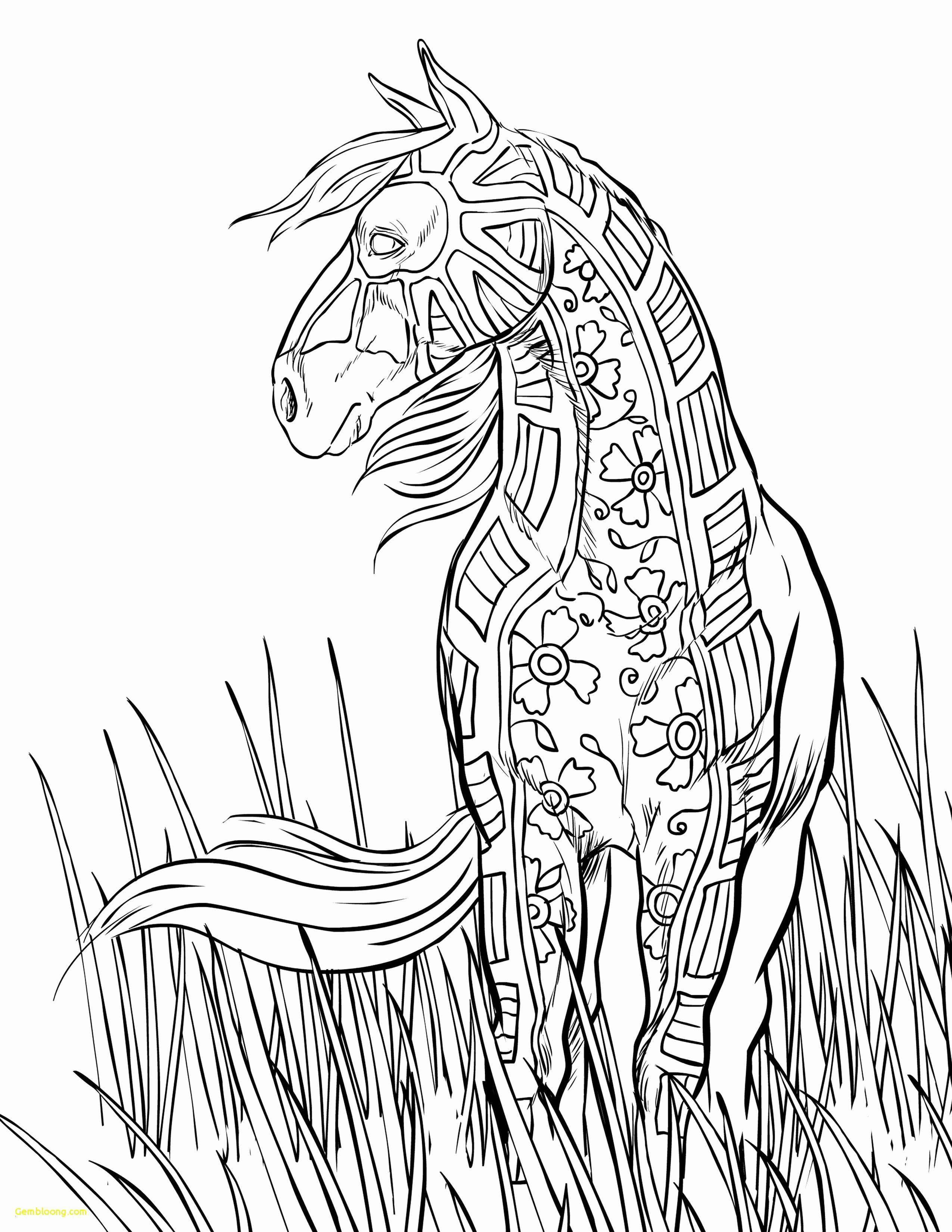 Malvorlagen Tiere Pferde schöne realistische Pferd Malvorlagen