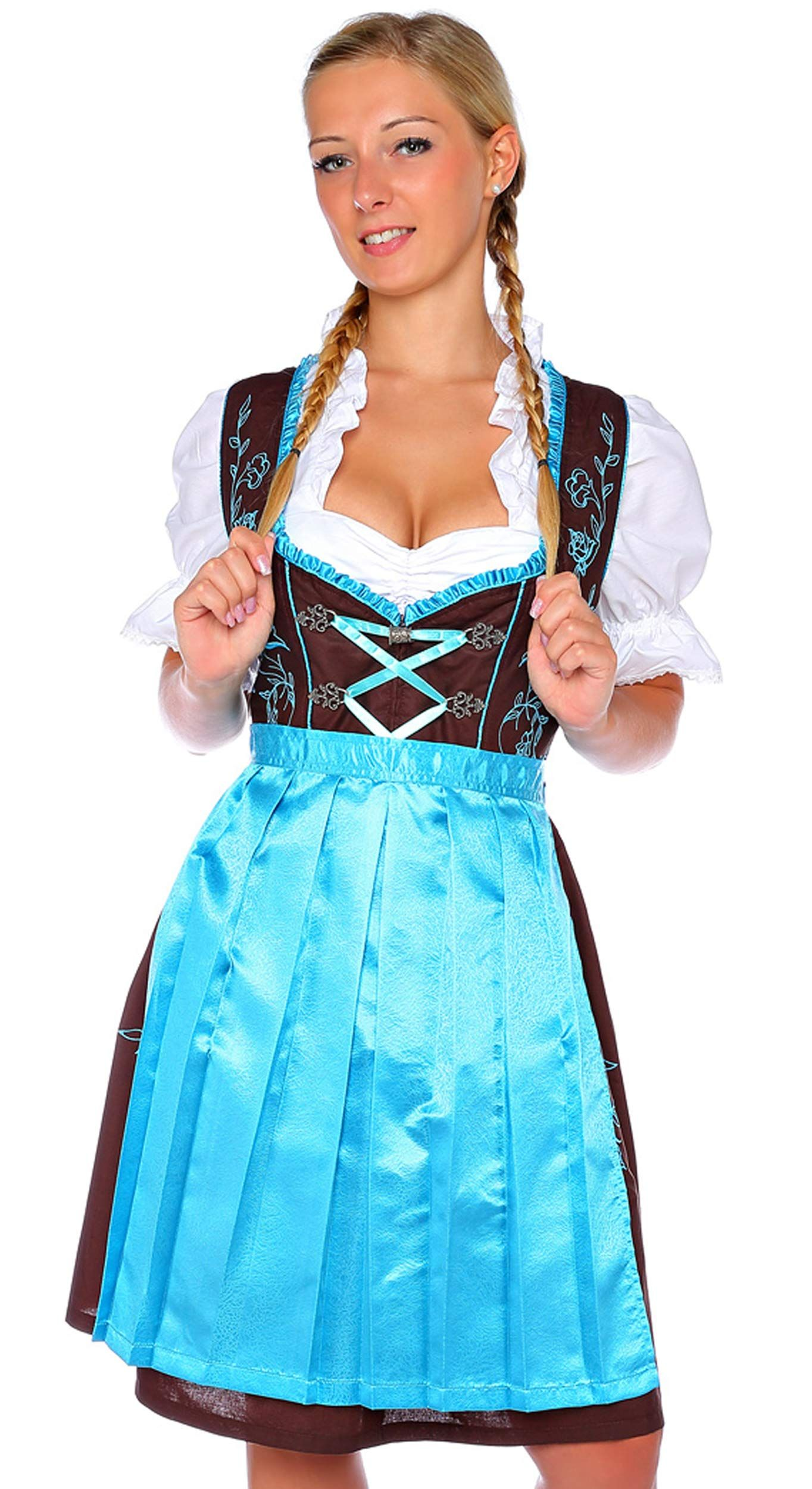 18047 Lukas Dirndl Authentic bavarian Trachten Dirndl dress 2-pieces with apron