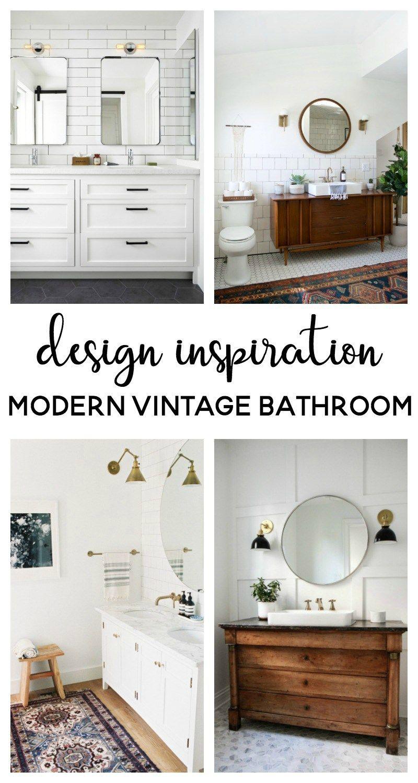 modern vintage bathroom | bathroom ideas bathroom remodel | bathroom renovation