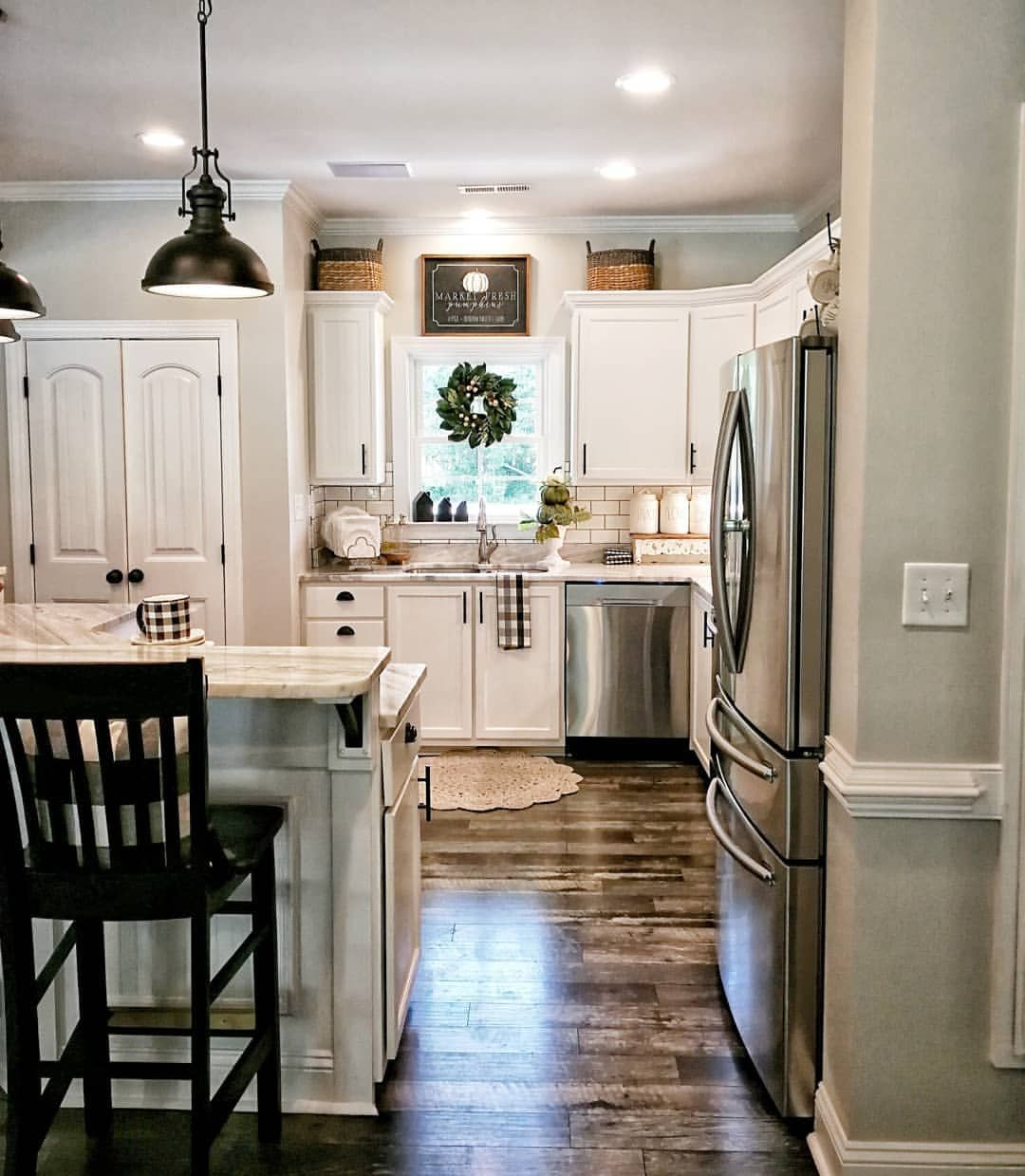 Wait What Who On Earth Decorated My Kitchen For Fall So Early Those Rotten Fall Elves The With Images Kitchen Remodel Small Home Decor Kitchen Cheap Kitchen Makeover
