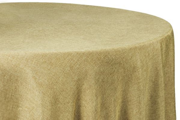 Faux Burlap Table Overlay Topper Tablecloth 90 Round Natural