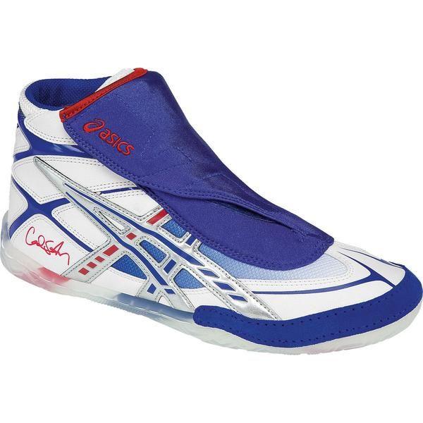 all white asics wrestling shoes