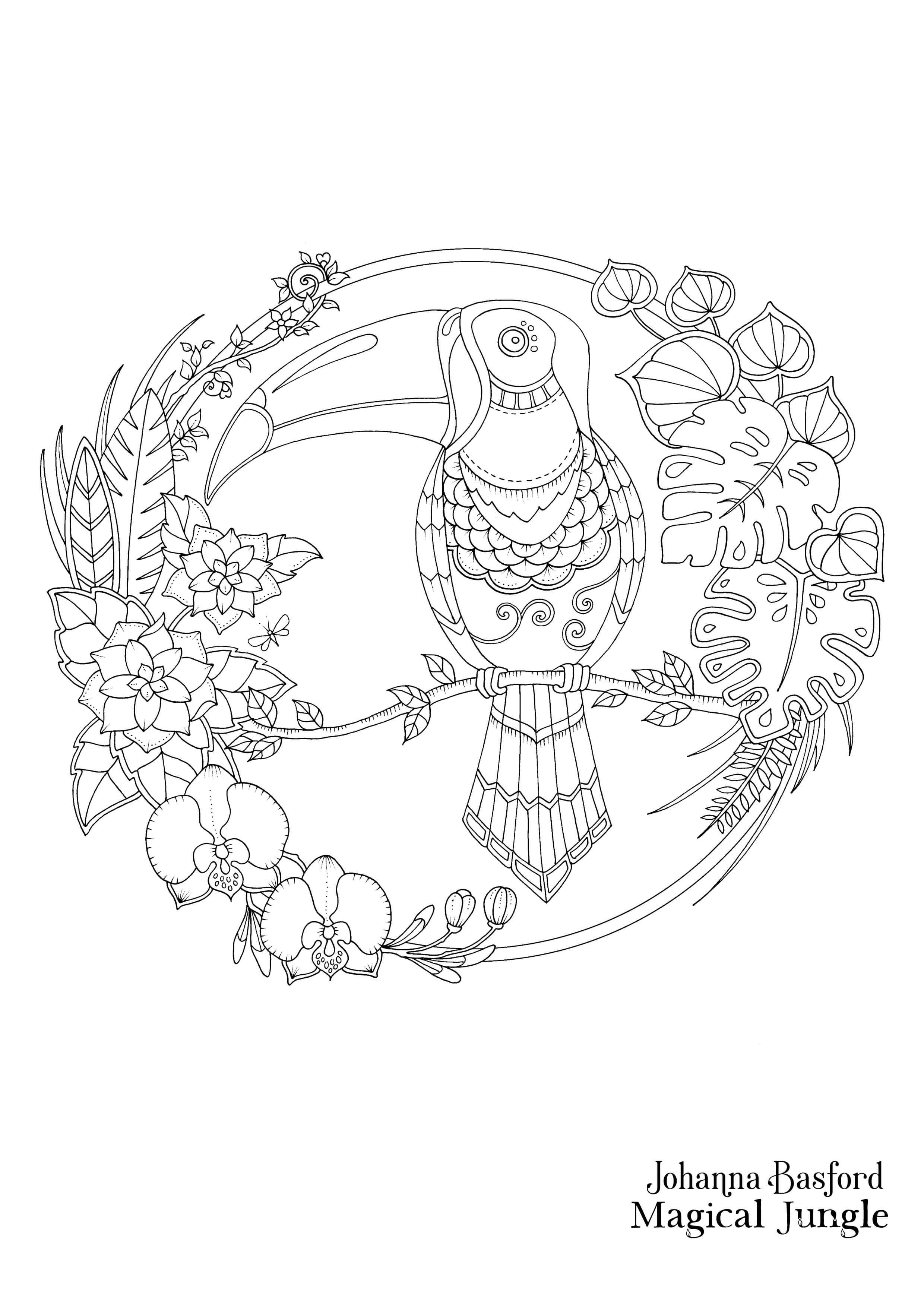 Magical-Jungle-Toucan-download.jpg (2480×3508) | Crafts | Pinterest ...