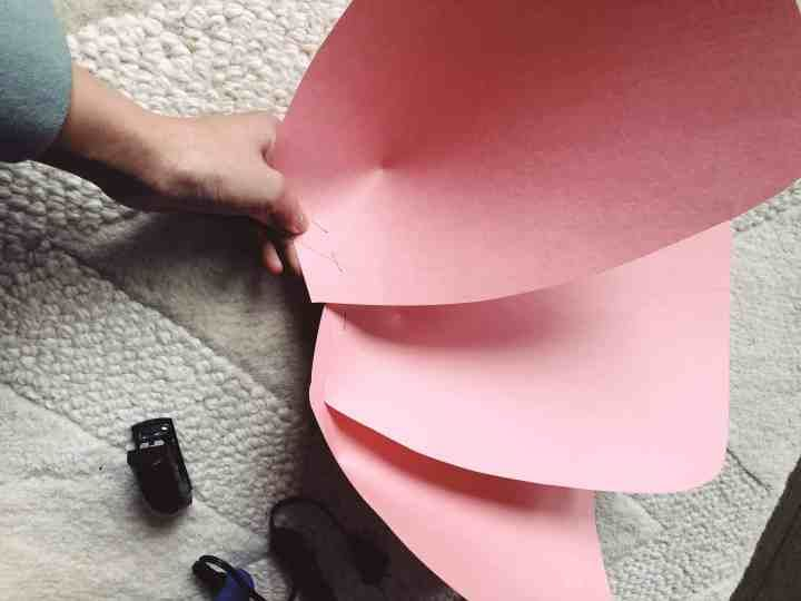 Giant Paper Rose Template and Tutorial #crepepaperroses