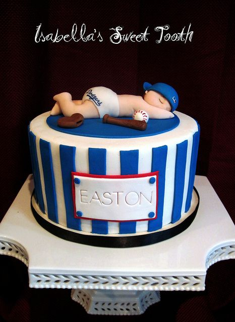 Dodger Baby Shower Cake Dodgers Shower Cakes And Cake