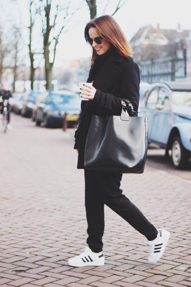 low priced a80a3 041a8 How to Wear Classic Adidas Sneakers Like a Street Style Star  StyleCaster
