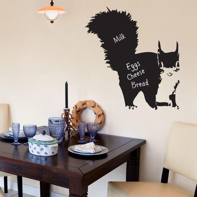 Chalkboard Wall Stickers - Squirrel Blackboard Wall Stickers £16.95