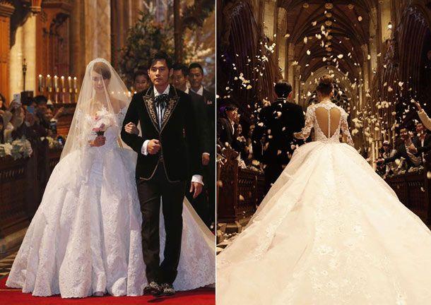 12 Stunning Celebrity Wedding Gowns of 2015 | Celebrity wedding ...