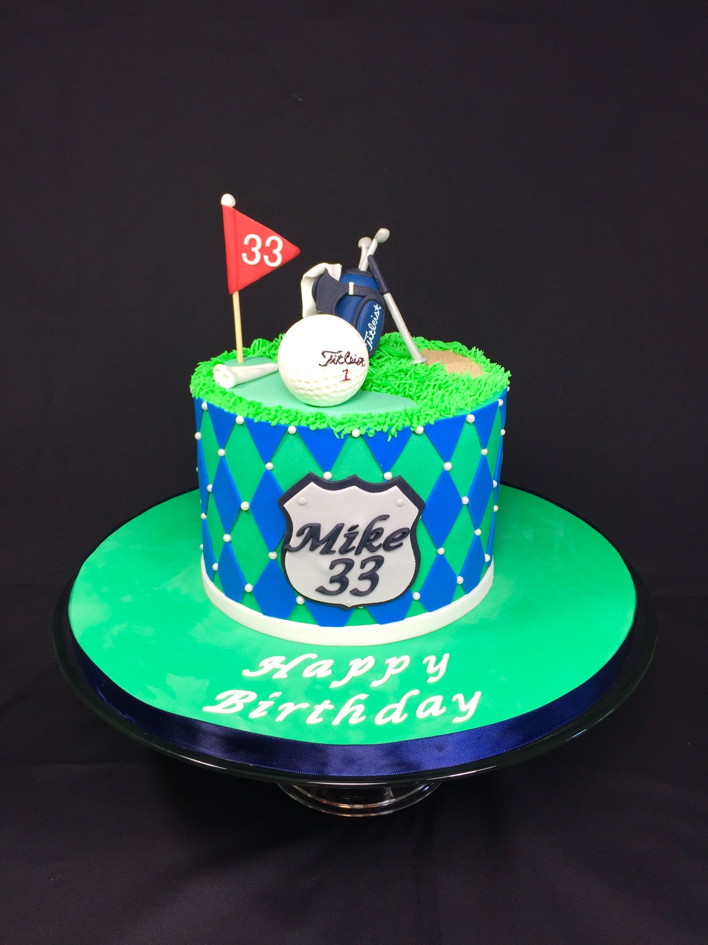 A golf themed birthday cake designed by Layer After Layer cake