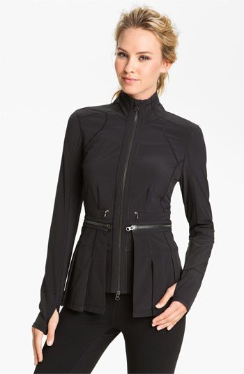 Zella Zip Off Peplum Jacket. Here's an example that will pass in the studio or zip off for your run, but will look just as in style on the streets.