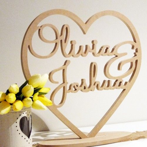 Heart with names customised wooden wedding freestanding signs pink heart with mr mrs surname customised wooden wedding freestanding signs from wedding signs wedding decorations online shop junglespirit Image collections