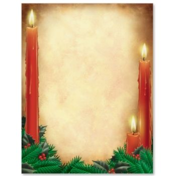 Candlelight Letter Paper  Idea Art  Christmas Party And Holiday