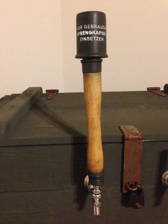 Beer tap handle, WWII German Stick Grenade | Beer & Tap
