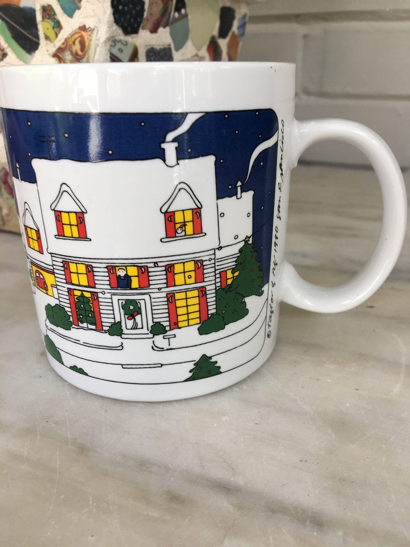 Elegant Vintage Taylor U0026 Ng Joyous Noël Mug, Christmas Coffee Cup, 1980 San  Francisco, Snow, Ski, Wreath, Hot Cocoa, Joyous Noel