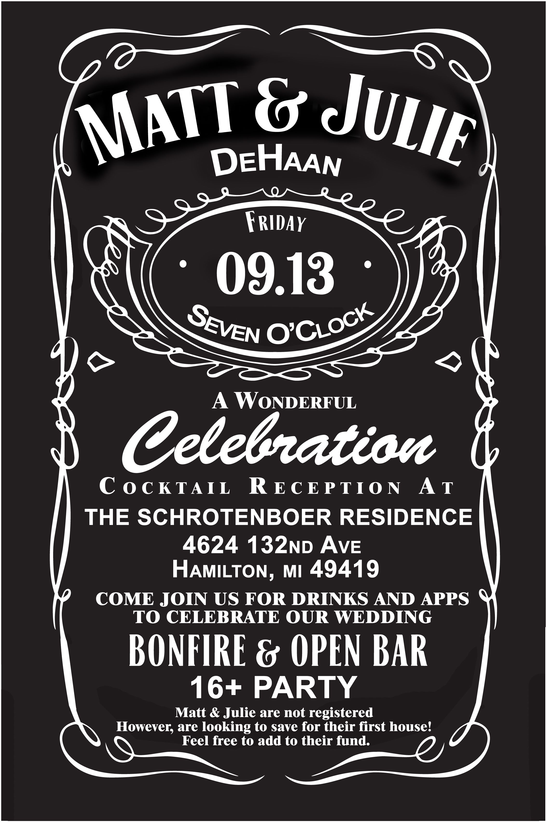 Jack Daniels Wedding Invites Custom For Our Wedding Wedding