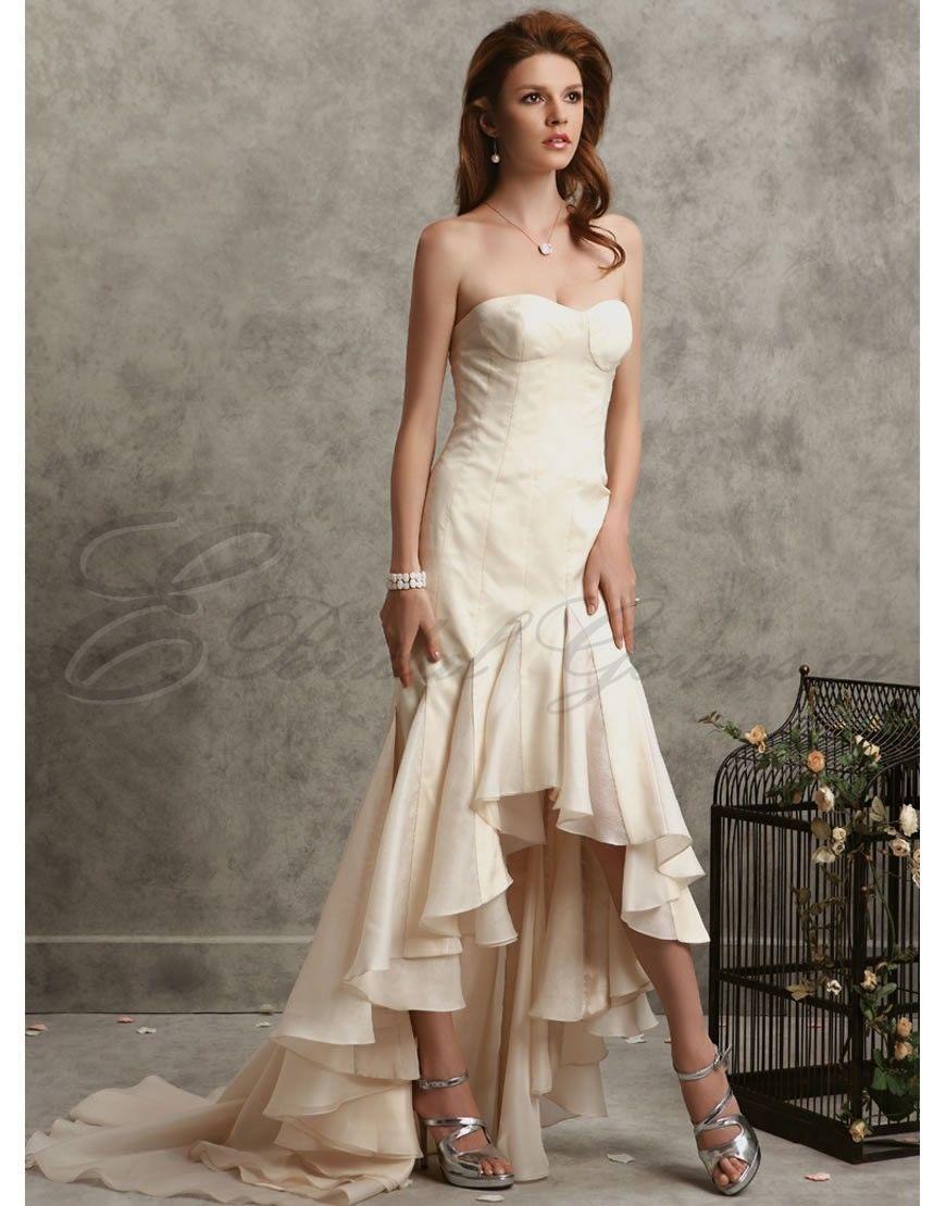 Sexy corset wedding dresses mermaid silk corset bodice strapless