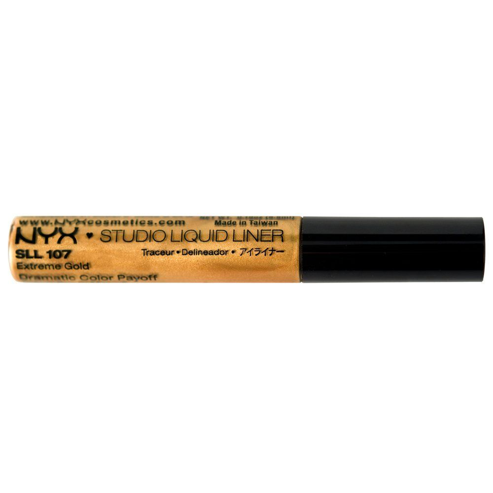 NYX Studio Liquid Liner, Extreme Gold, 0.19 Ounce -- Startling review available here  : Makeup brushes