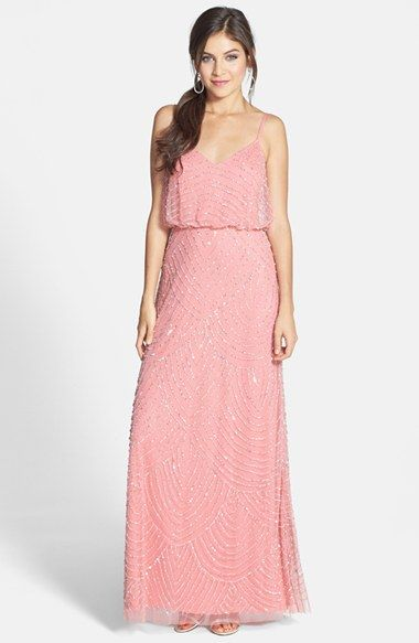 Adrianna Papell Embellished Blouson Gown Regular Pee Available At Nordstrom