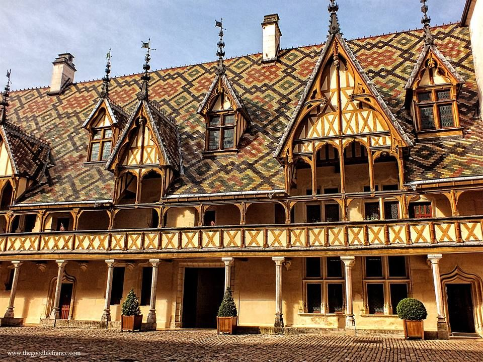 I fell in love with Burgundy this year & especially Beaune with its ancient hospital (1443) with an unforgettable roof, amazing interior & even more incredibly finding out it was still in use in the 1990s! More photos here: http://www.thegoodlifefrance.com/hospices-de-beaune-burgundy/