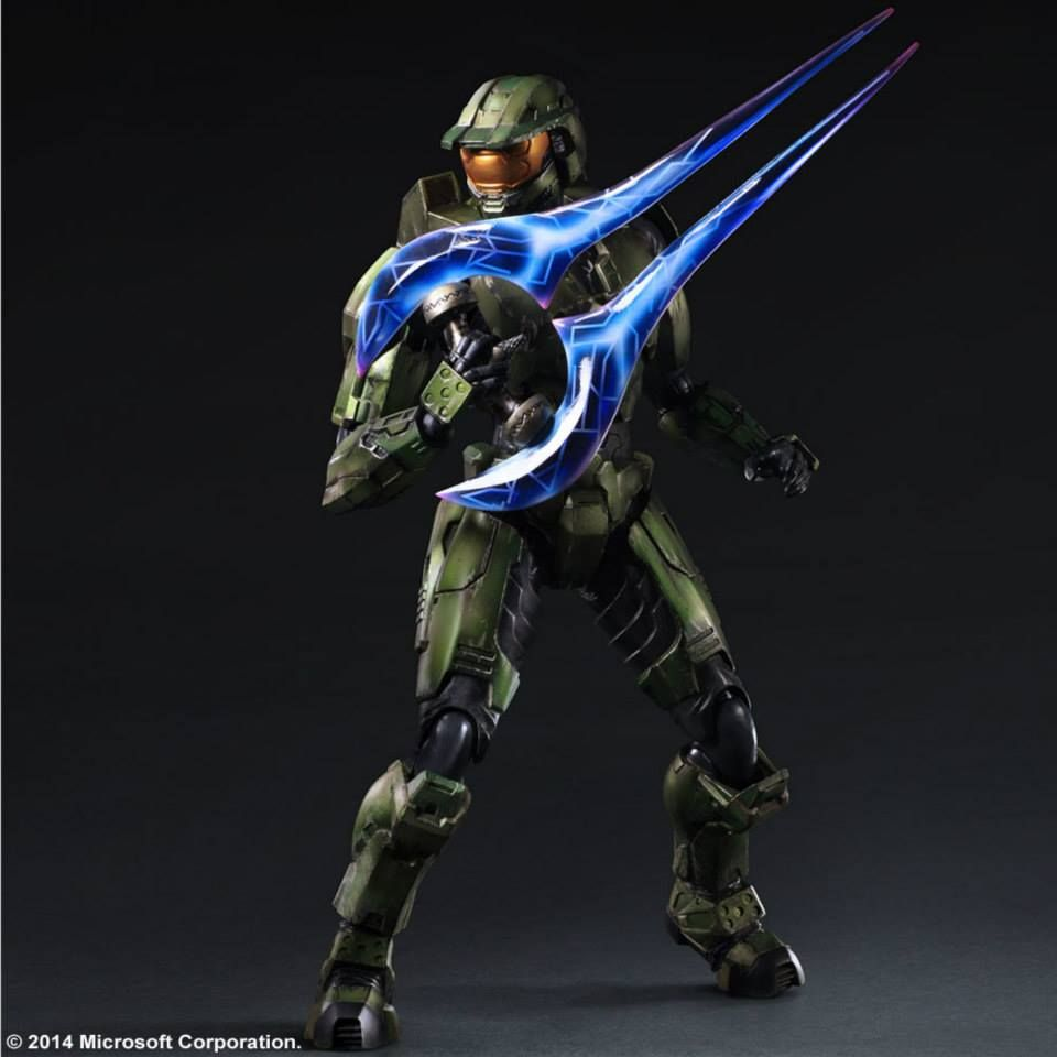 GUARDIANS Action Master Chief Car Play PVC Figure 27cm Gift Arts Kai Halo 5