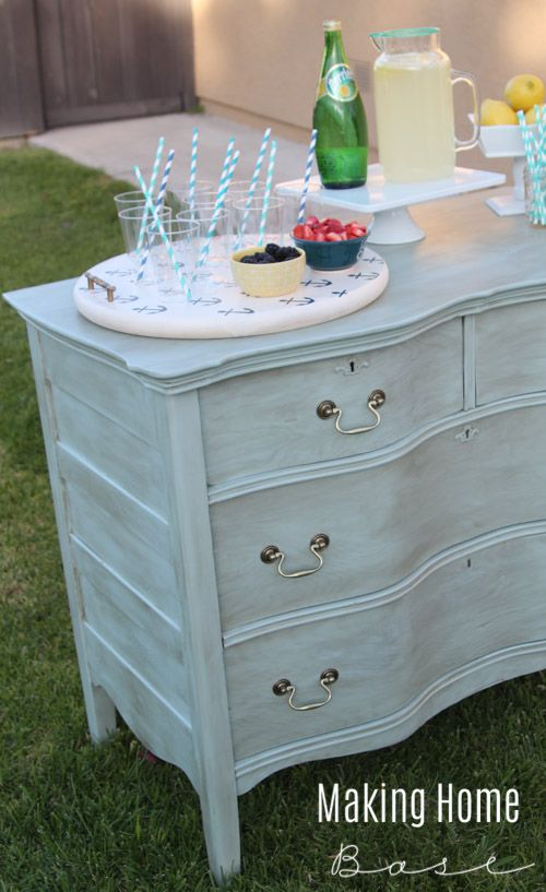 Celebrate Summer with an Outdoor Drink Station | Pinterest