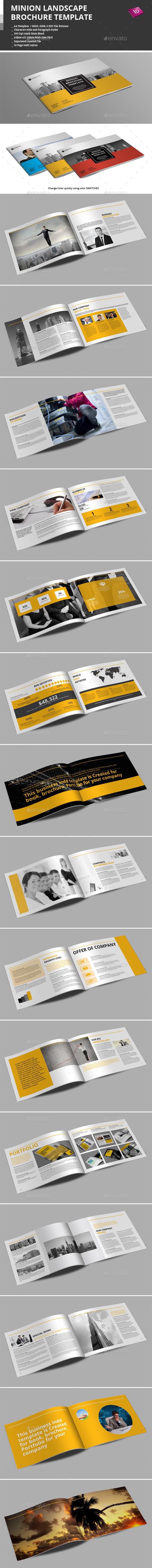 Minion Landscape Brochure Templates | Pinterest | Folleto ...