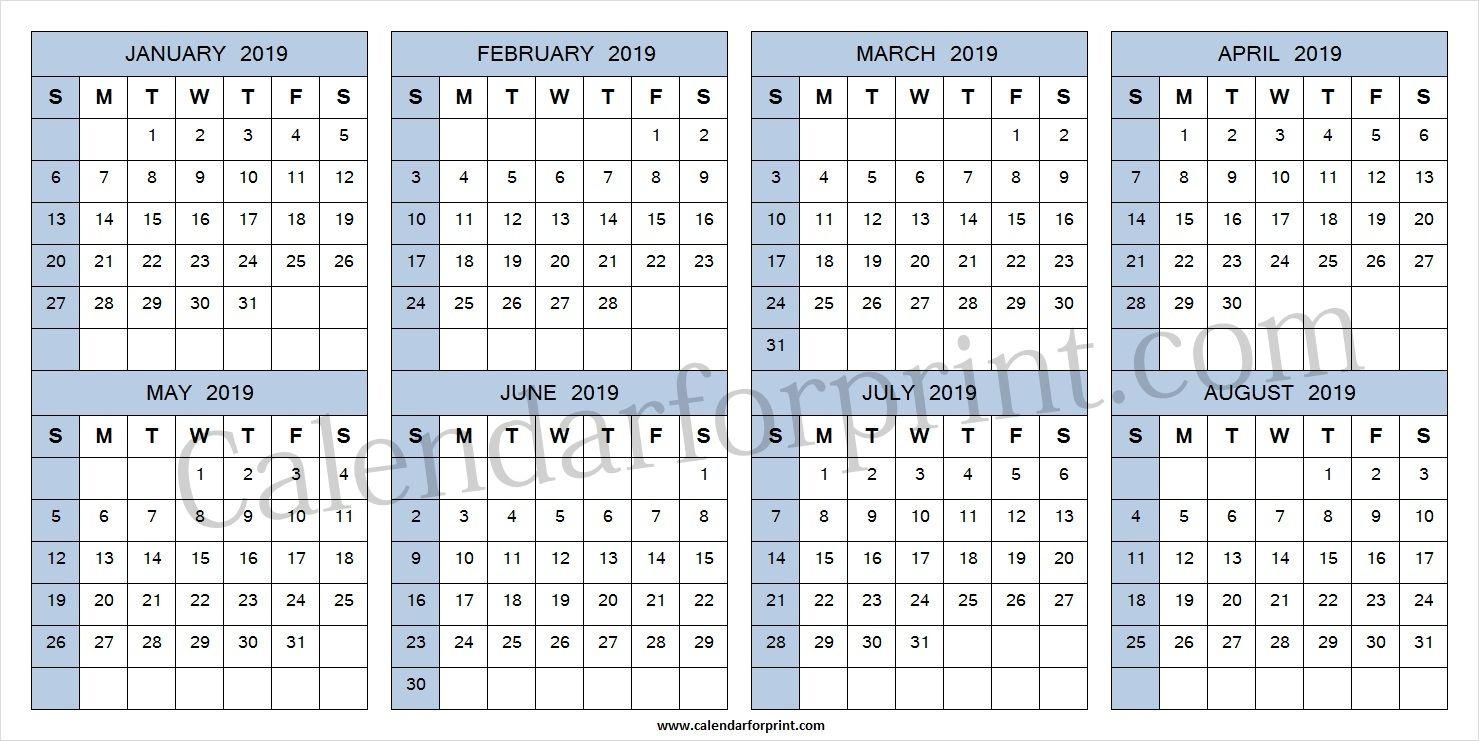 2019 Monthly Calendar Template Word January 2019 Calendar