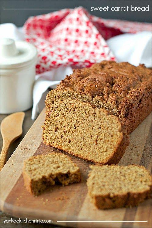 Sweet carrot bread: a healthy, easy way to eat your veggies!   yankeekitchenninja.com