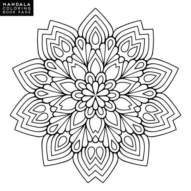 Contournez Mandala pour un livre à colorier. Ornement rond décoratif ...