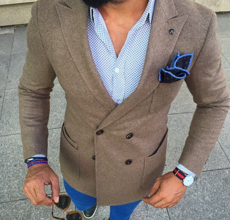 This is a great ensemble. The details really make it pop! #men #fashion