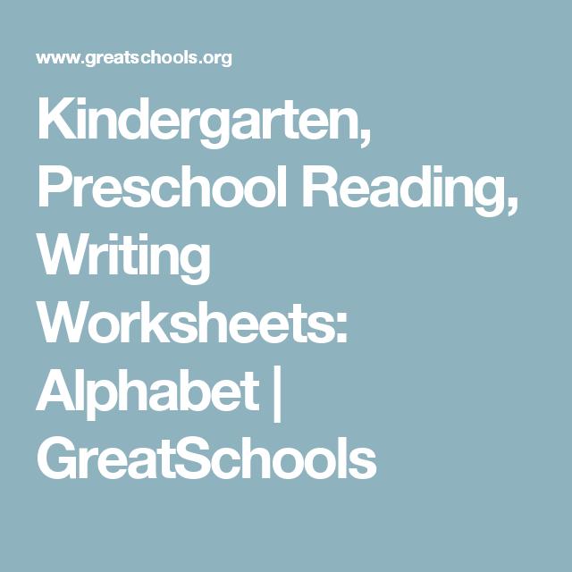 Kindergarten, Preschool Reading, Writing Worksheets: Alphabet ...