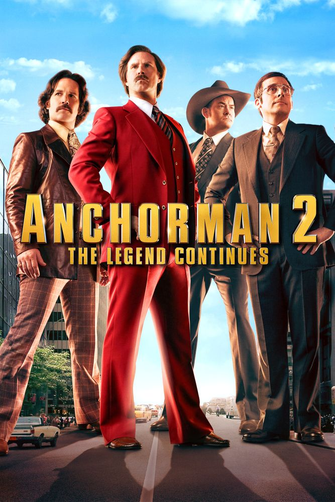Anchorman 2 The Legend Continues Movie Poster Will Ferrell