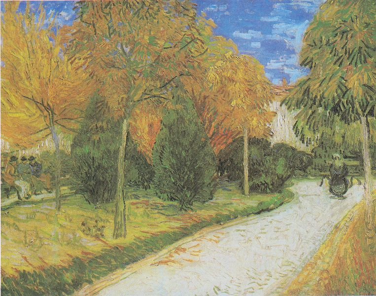 Path in the Park at Arles by Van Gogh