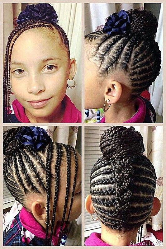Beautiful Braided Updo For A Little Girl Kids Braided Hairstyles Kids Hairstyles Natural Hair Styles