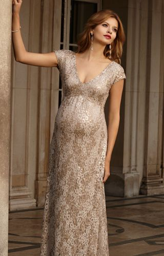 6122d3eeed3 Carmen Maternity Gown Gold Rush - Maternity Wedding Dresses