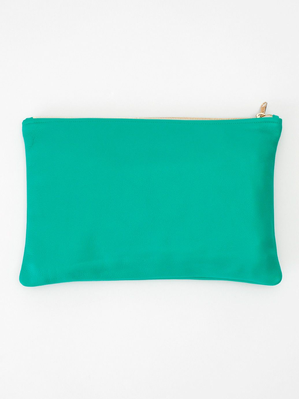 American Apparel - Medium Leather Carry-All Pouch