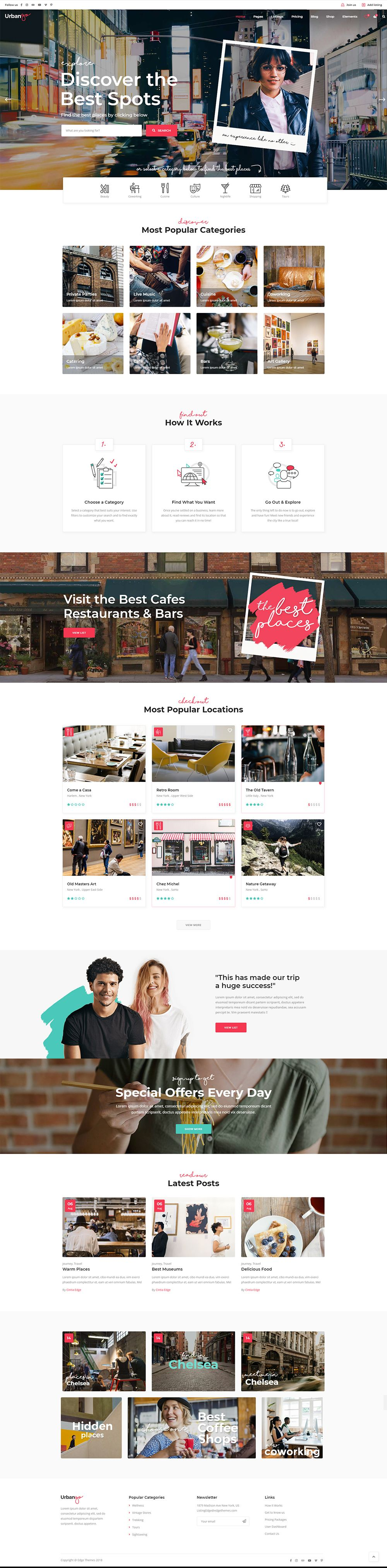 UrbanGo is an astonishing directory and listing WordPress theme that