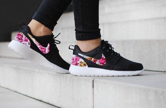 nike mujer zapatillas negras y rosas