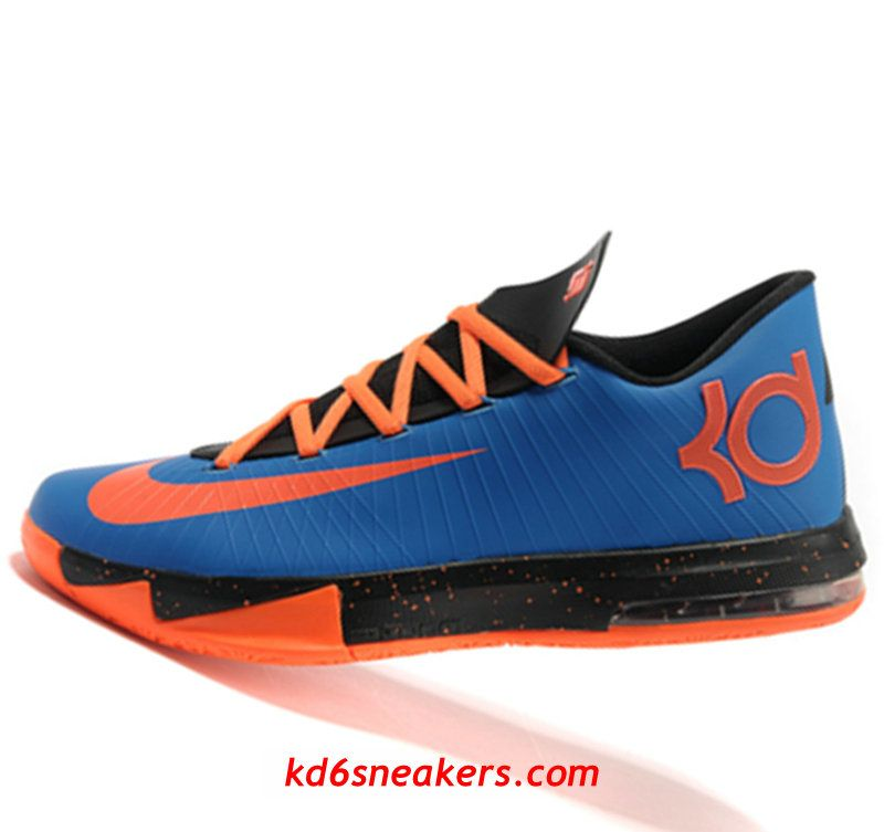 new style 2bda7 b22e8 Nike KD VI 6 black orange Kevin Durant Basketball shoes