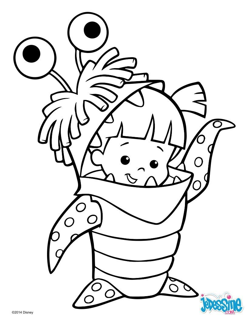 Un joli coloriage sur monstres et compagnie avec bouh un dessin parfait qui plaira tous les - Coloriage manga livre ...